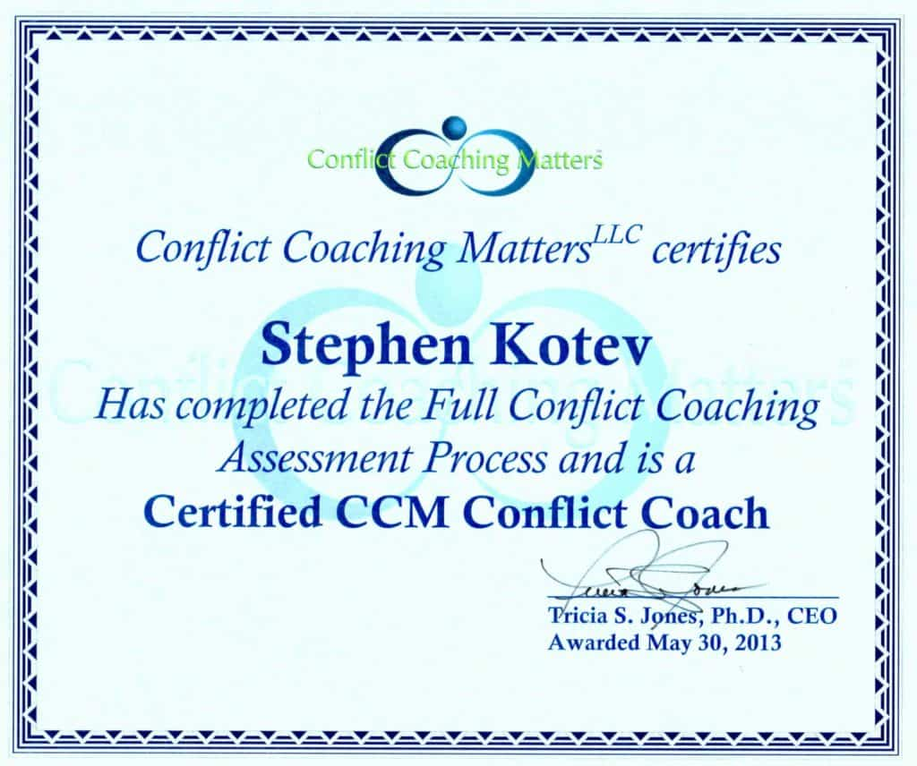 Conflict Coaching, one-on-one process, trained coach, government agencies, Fortune 500 companies, cultivate teamwork, relationships